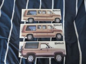 1980's Waldoch Ford Van & Sport Truck Conversion Brochure Lot
