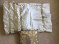 Gold Sequin Double Duvet & Pillow Set £5