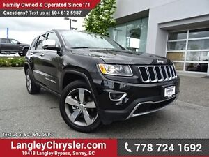 2016 Jeep Grand Cherokee Limited W/ 4X4, LEATHR UPHOLSTERY &...