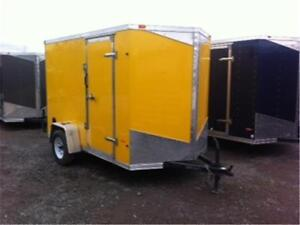 "ENCLOSED CARGO TRAILERS 6'6"" INTERIOR RADIAL TIRES AND MORE"