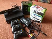 X Box 360 console, kinect and games