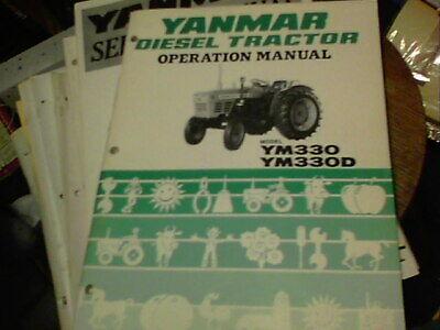 Yanmar Diesel Tractor Operation Manual Model Ym330 Ym330d