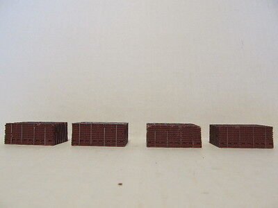 4 DCP 1/64 SCALE  RESIN BROWN BRICK LOADS  (SHOWS SHELF WEAR,  AS IS)
