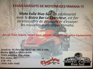 ***ATTENTION ESSAIS GRATUIT DE MOTONEIGES YAMAHA!!!***