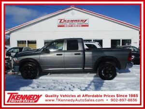 2011 DODGE RAM 1500 QUAD CAB 4X4 WITH ARTIC PLOW