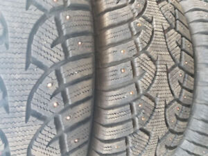 4 235/70/16 studded directional winter tires
