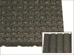 "NEW! 4' x 6' x 3/4"" Rubber Gym Flooring - Great For CrossFit / Olympic Lifting / Weight Rooms"