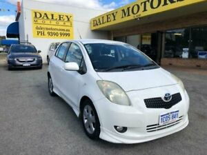 2007 Toyota Yaris NCP91R YRX White Automatic Hatchback Kelmscott Armadale Area Preview