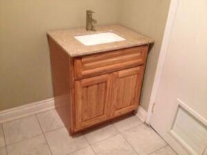 Solid OAK Vanity Set Clearance Sale for Just $299.00!