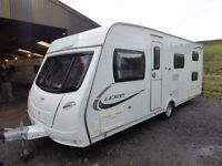 2012 Lunar lexon 550 6 berth fixed bunks,side dinnette,mover,immaculate