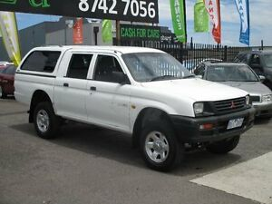 2001 Mitsubishi Triton MK GLX (4x4) White 5 Speed Manual 4x4 Dual Cab Utility Hoppers Crossing Wyndham Area Preview