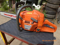 husqvarna chainsaw not stihl, ready to go to work but hardly ever used