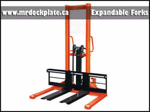 Hydraulic Stacker (MOBILE) With 2,200 LBs Capacity SPECIAL
