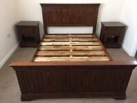 All Solid Oak Double Bed 1.5 year old only. RRP £539 selling £220