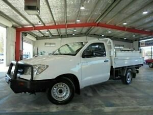 2011 Toyota Hilux KUN16R MY10 SR White 5 Speed Manual Cab Chassis Welshpool Canning Area Preview