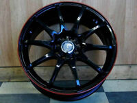 Brand New!!! 17 inch black with RED STRIPE wNEW TIRES - VW211