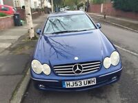 Mercedes CLK 240 Avantgarde Automatic, FSH, Full Leather,92,200 miles,Mot Sep 2017 vgc,