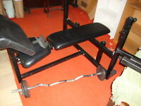 HEAVY DUTY BENCH AND WEIGHTS