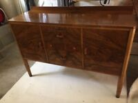 Antique sideboard- Waring and Gillow- walnut wood