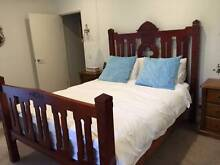 Gothic Style Queen size bed + 2 side cabinets Homebush Strathfield Area Preview
