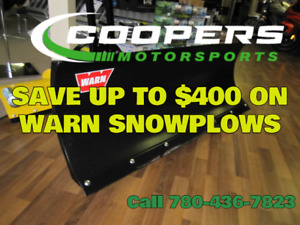 Huge sale, save up to $400 on Warn Snowplows. Call Coopers!