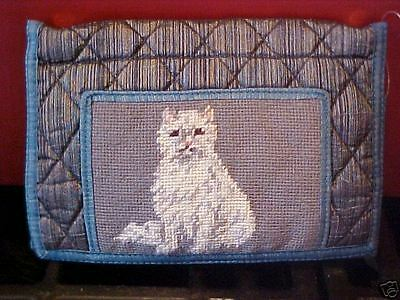 PERSIAN   ~   NEEDLEPOINT QUILTED WALLET  QW 307