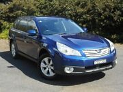 2011 Subaru Outback B5A MY11 2.5i Lineartronic AWD Touring Blue 6 Speed Constant Variable Wagon Muswellbrook Muswellbrook Area Preview
