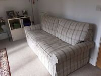 Laura Ashley 2-3 seater sofa, neutral colours and in immaculate condition, under a year old