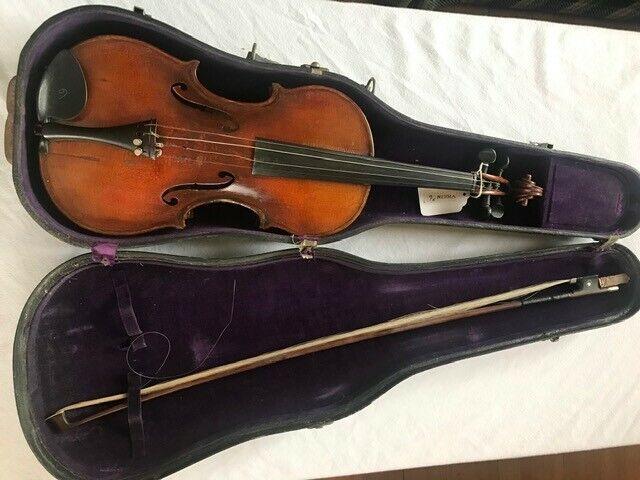 Repaired antique violin-1923 Oliver L Fraser