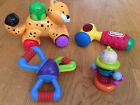 Fisher Price Tiger on Wheels and Little Tikes Hammer