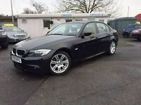 BMW 3 SERIES 2.0 318D M SPORT 4d 141 BHP (black) 2009