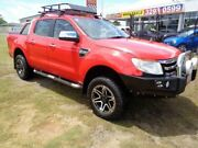 2011 Ford Ranger PX XLT Double Cab Red 6 Speed Manual Utility Clontarf Redcliffe Area Preview