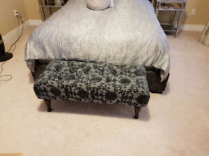 Matching Bench and Stool / Ottoman