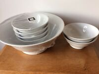 NEW-Le Vrai Gourmet Porcelain serving set- Oven to tableware