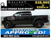2013 DODGE RAM SPORT LIFTED *EVERYONE APPROVED* $0 DOWN $269/BW!