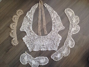 Delicate handmade lace collars