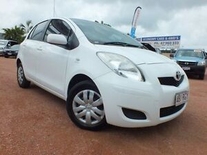2010 Toyota Yaris NCP90R MY11 YR White 5 Speed Manual Hatchback Rosslea Townsville City Preview