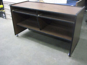 Desk on Wheels with 2 Places Kitchener / Waterloo Kitchener Area image 1