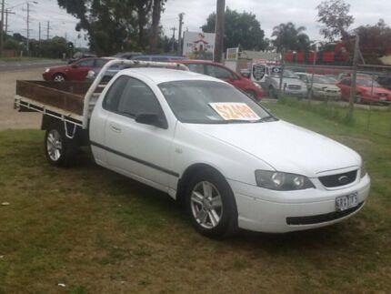 2004 Ford Falcon BA MkII RTV White 4 Speed Auto Seq Sportshift Cab Chassis Hastings Mornington Peninsula Preview