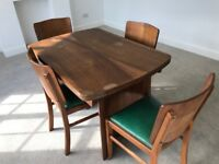 Dining room leaf table and 6 chairs- collect from Ashtead.