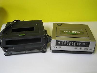 MONTGOMERY WARD 2-4-6 HOUR VHS PORTABLE VIDEO CASSETTE RECORDER GEN 10518 NICE!