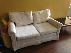 Loveseat and armchair available for free