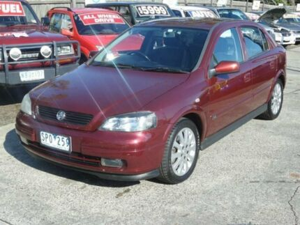 2004 Holden Astra TS CDX Maroon 5 Speed Manual Hatchback Maidstone Maribyrnong Area Preview