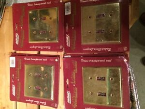 Brass Light Switch Covers  NEW