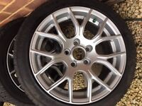 Winter wheels and tyres for BMW series 1, Hardly used.