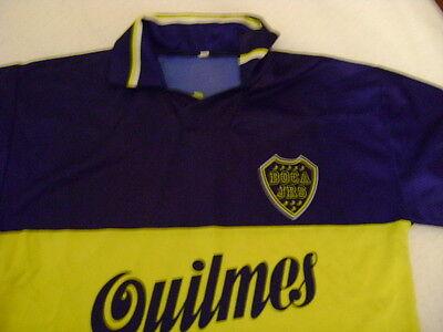 BOCA JUNIORS ARGENTINA QUILMES/XENEIZES shirt jersey 1995 vintage collectors image