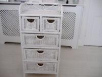 Cane Drawer Unit for Bedroom or Bathroom