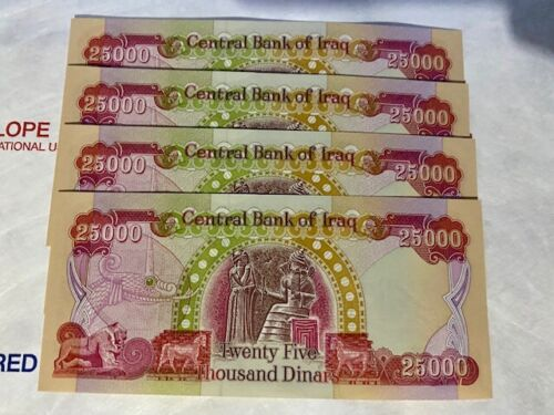 Iraqi Dinar Currency - 100,000 IQD - Uncirculated - Serial Numbers Provided