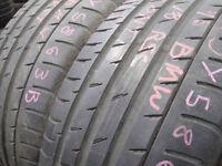245/45/18 Continental SportContact3E, BMW Runflat x2 A Pair, 6.4mm (168 High Road, Romford, RM6 6LU)
