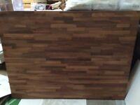 Solid wood butcher block kitchen island worktop L1702mm x 1275mm x 40mm